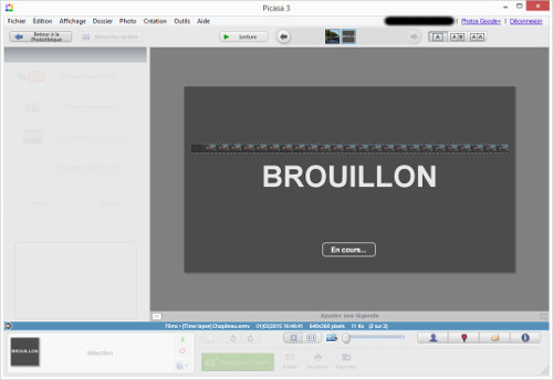 Picasa-brouillon-video