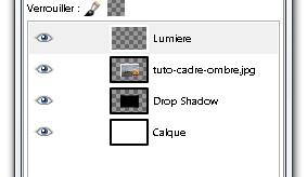 Une photo avec un cadre et une ombre r aliste avec gimp for Afficher fenetre calque gimp