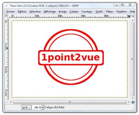 un tampon l encre sur vos photos avec gimp 1point2vue. Black Bedroom Furniture Sets. Home Design Ideas