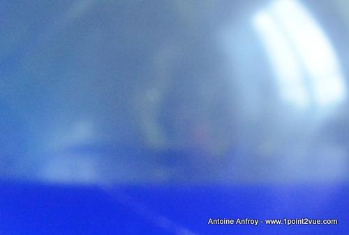 detail bruit balle bleu