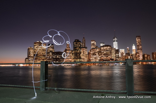 new-york light painting